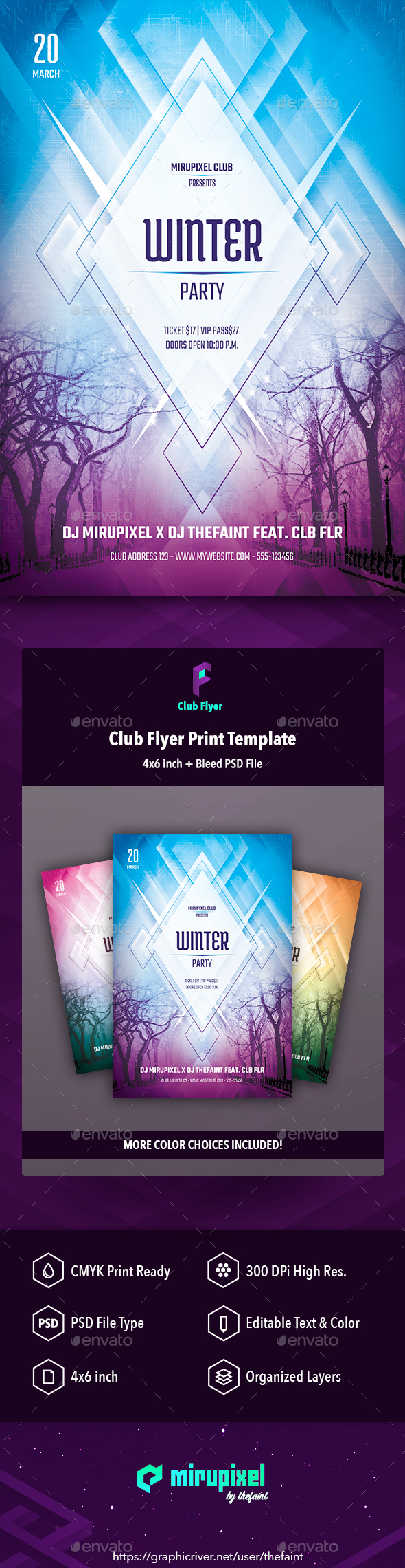 GraphicRiver Club Flyer Winter Party 20918884