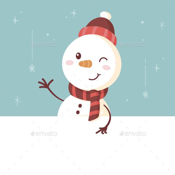 GraphicRiver Snowman Banner 20918887