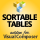 Sortable Tables Addon for Visual Composer