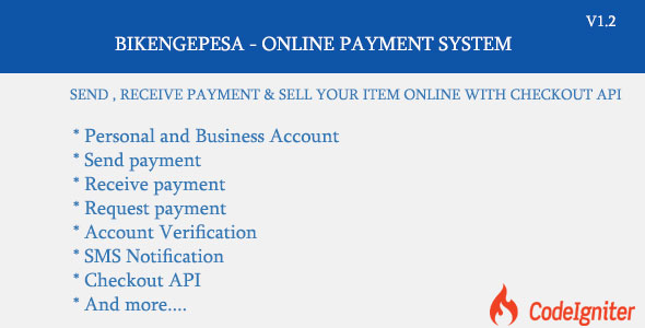 BIKENGEPESA - ONLINE PAYMENT SYSTEM - CodeCanyon Item for Sale