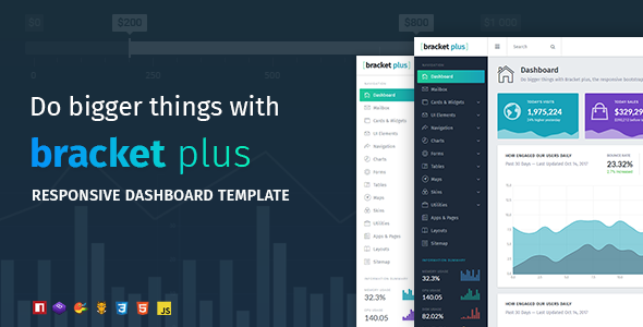 ThemeForest Bracket Plus Responsive Bootstrap 4 Admin Dashboard Template 20919056