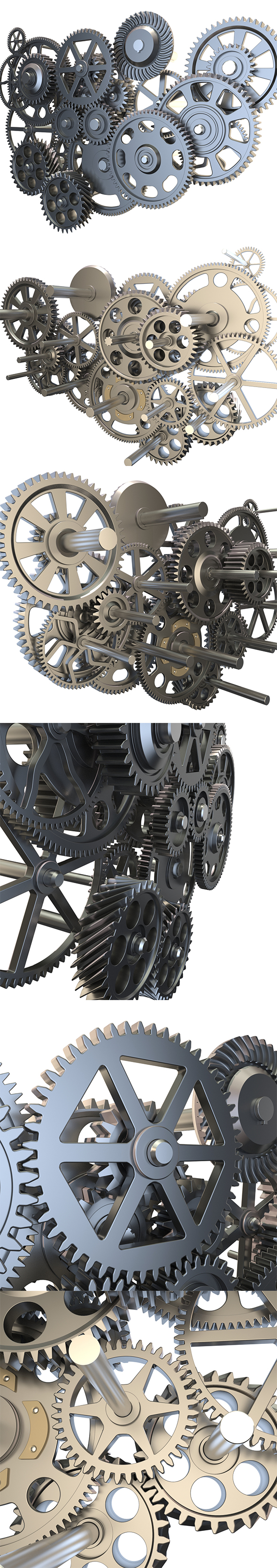 Gear mechanism set - 3DOcean Item for Sale