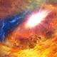 Flying Through Abstract Space Nebula Background - VideoHive Item for Sale