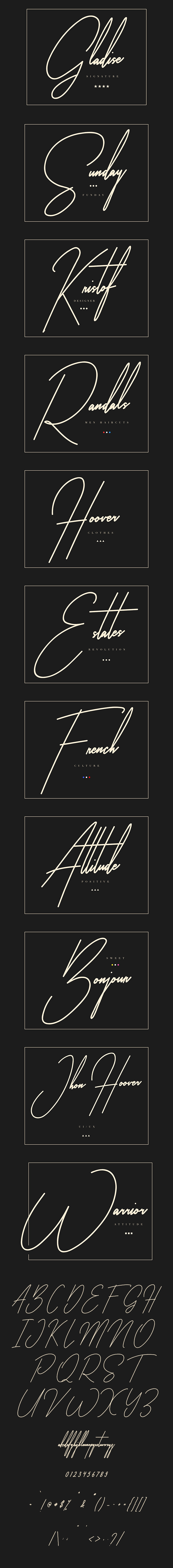 GraphicRiver Gladise Signature Typeface 20919208