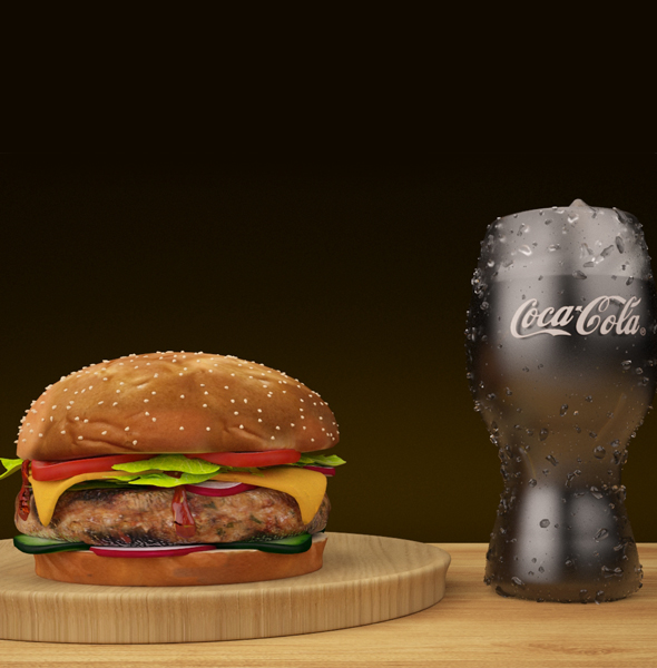 3DOcean BURGER AND COKE 20919224