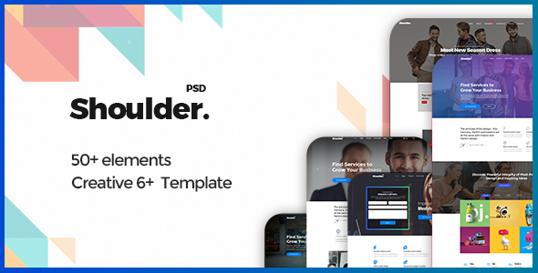 Shoulder - Multi-Purpose Consulting - Business, Finance PSD Template