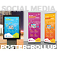 Social Media Marketing Poster & Roll-Up Bundle