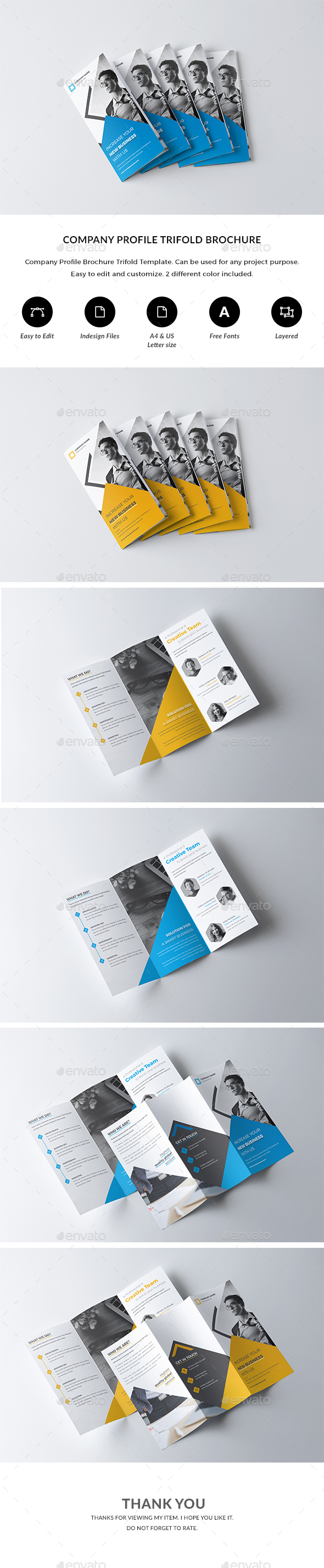 GraphicRiver Trifold Brochure Template 20919347