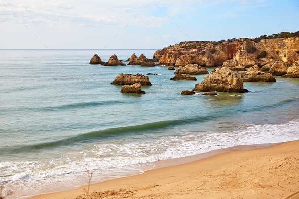 Beach of Algarve - Stock Photo - Images