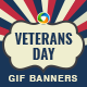 Veterans Day Animated GIF Banners
