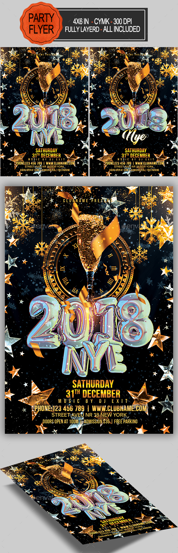 GraphicRiver New Year Party Flyer 20919574
