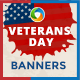 Veterans Day Banners - GraphicRiver Item for Sale