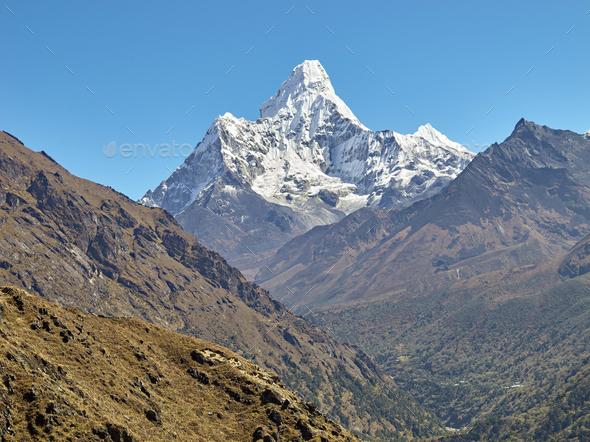 Ama Dablam Mountain. - Stock Photo - Images