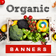 Organic Product Banners - GraphicRiver Item for Sale