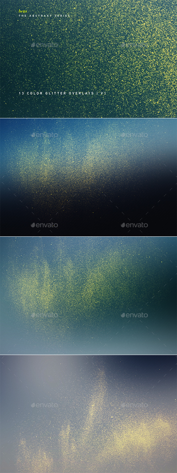Color Glitter Overlays V1 - Abstract Backgrounds