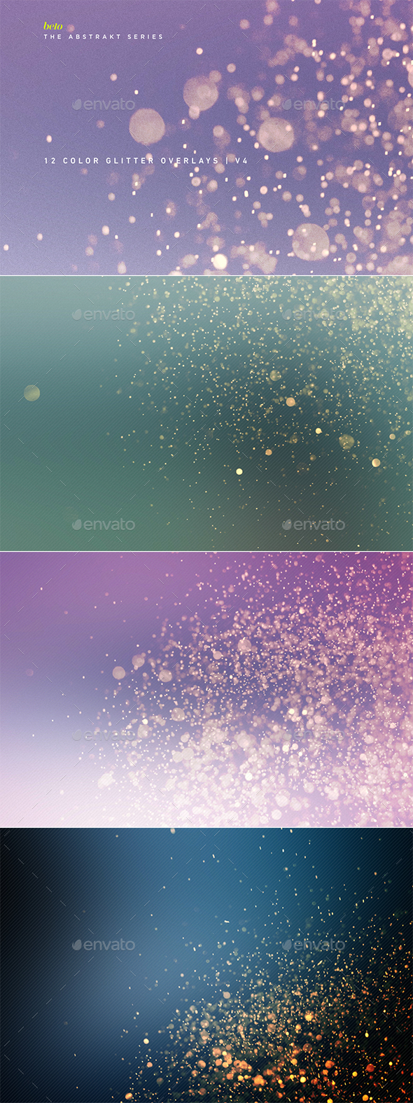 Color Glitter Overlays V4 - Abstract Backgrounds