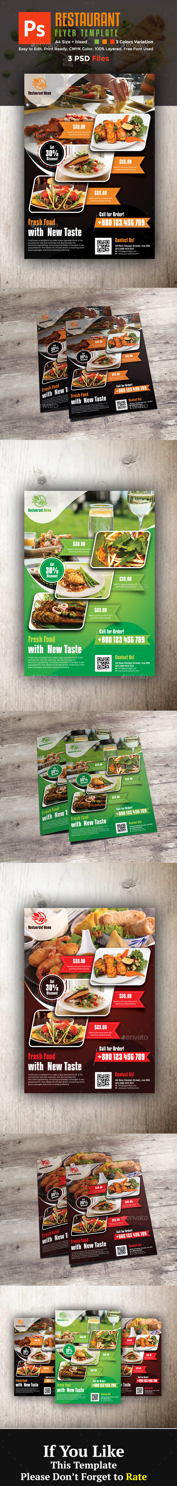 GraphicRiver Restaurant Flyer 20919767