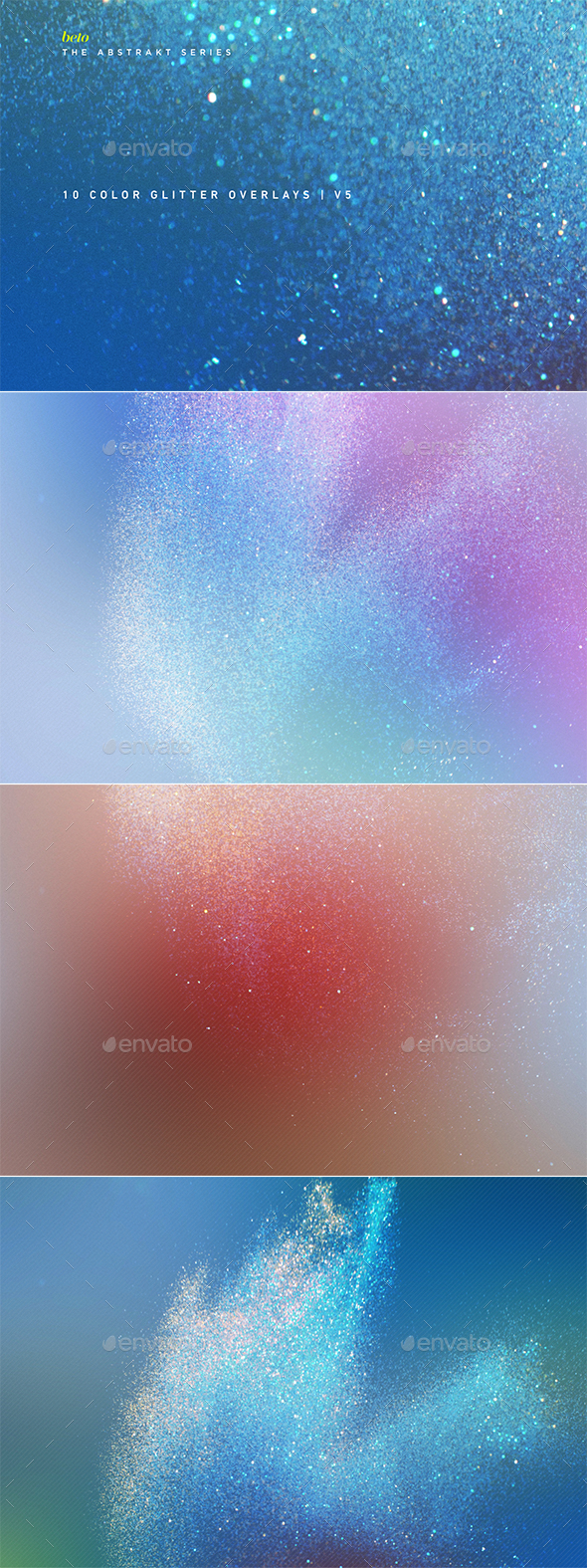 Color Glitter Overlays V5 - Abstract Backgrounds