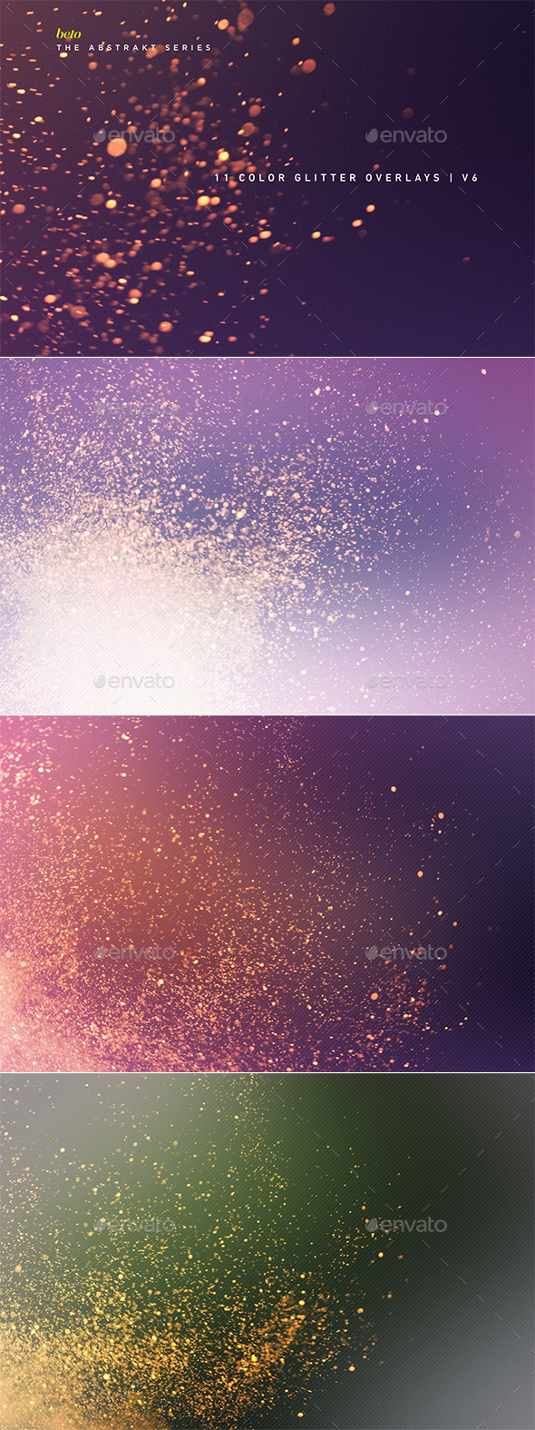 Color Glitter Overlays V6 - Abstract Backgrounds
