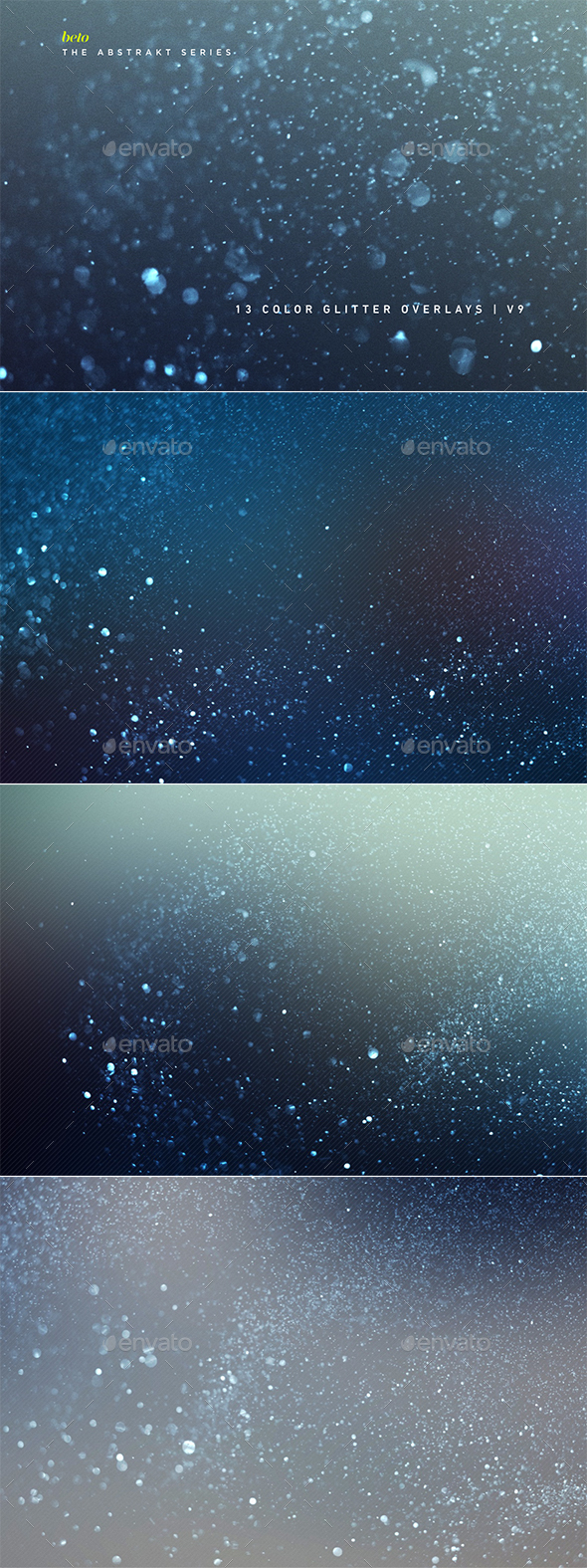 Color Glitter Overlays V9 - Abstract Backgrounds