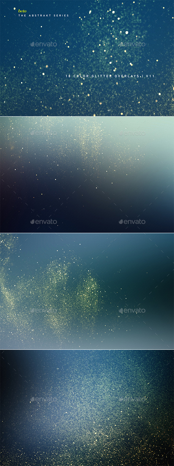 Color Glitter Overlays V11 - Abstract Backgrounds