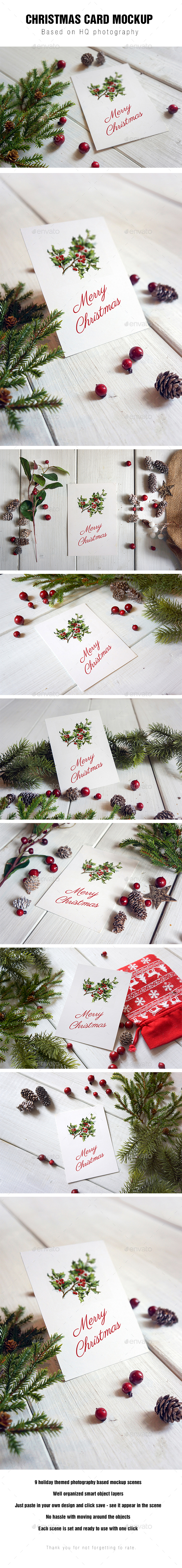 Christmas Card Mockup - Miscellaneous Print