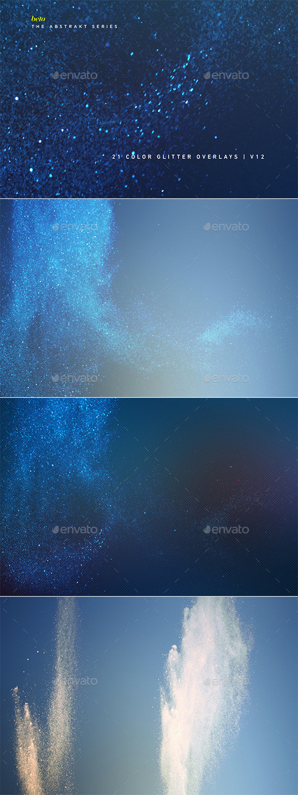 Color Glitter Overlays V12 - Abstract Backgrounds