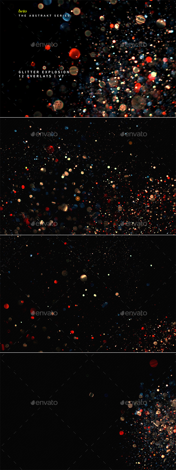 Glitter Explosion V7 - Abstract Backgrounds