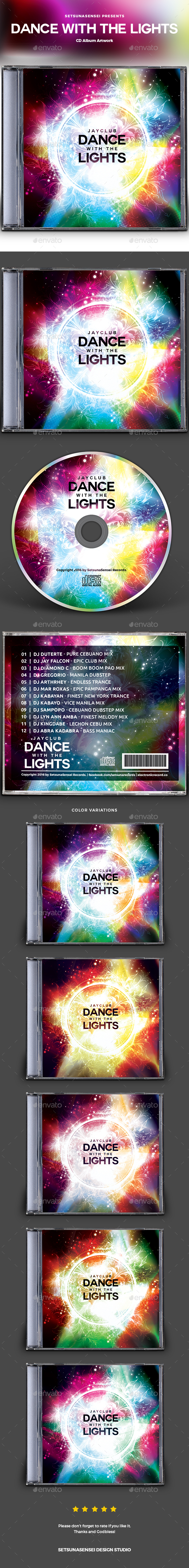 GraphicRiver Dance with the Lights CD Album Artwork 20919983