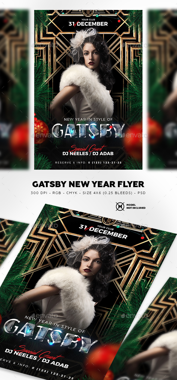 Gatsby New Year Flyer - Clubs & Parties Events