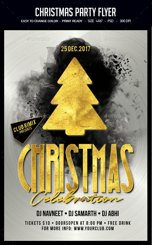 GraphicRiver Christmas Party Flyer 20920247