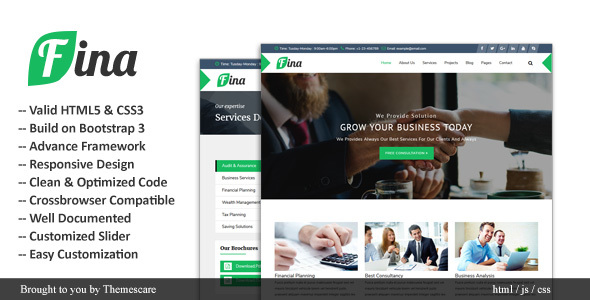 Fina || Business & Finance HTML Template