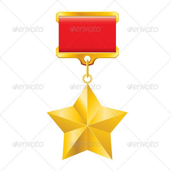 Gold star award - Decorative Vectors