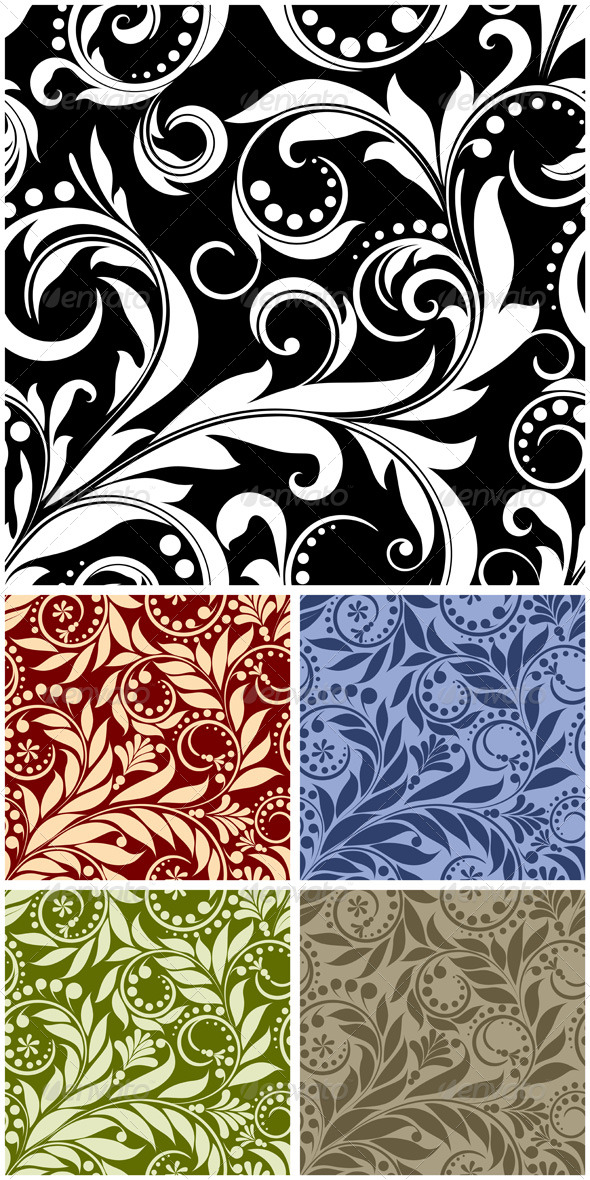 Seamless from plant - Patterns Decorative