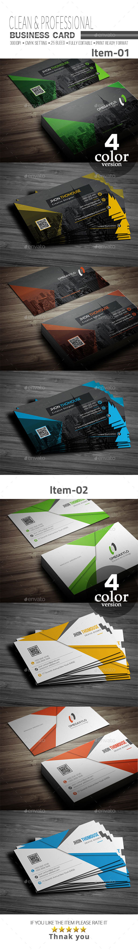 GraphicRiver Business Card Bundle 2 In 1 20920466