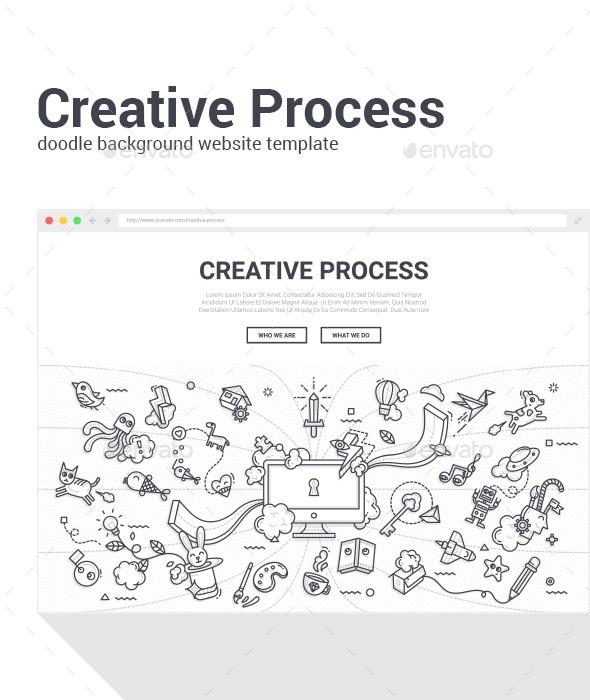 Creative Process Presentation Template - Miscellaneous Conceptual