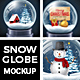 Snow Globe Mock Up / Background Kit - GraphicRiver Item for Sale