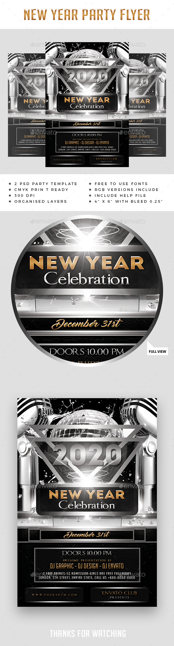 New Year Flyer Design