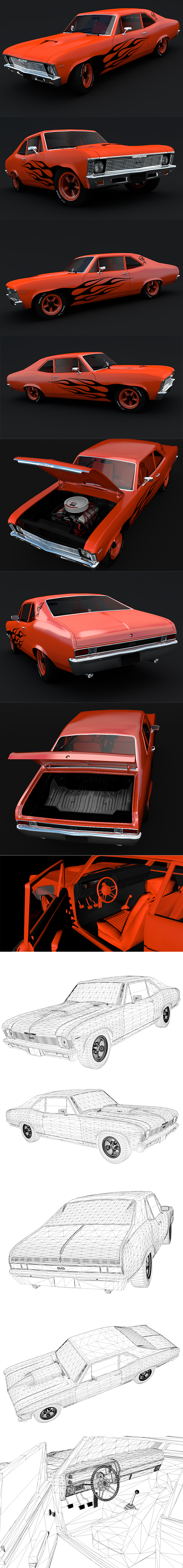 Chevrolet Nova SS 1968 - 3DOcean Item for Sale