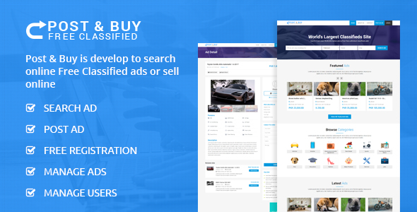 CodeCanyon Post and Buy Classified Ads Listings 20920645