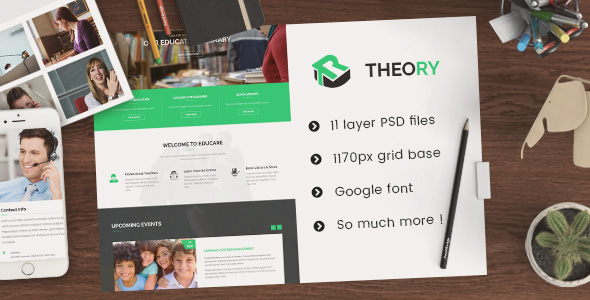 Theory - Education PSD Template