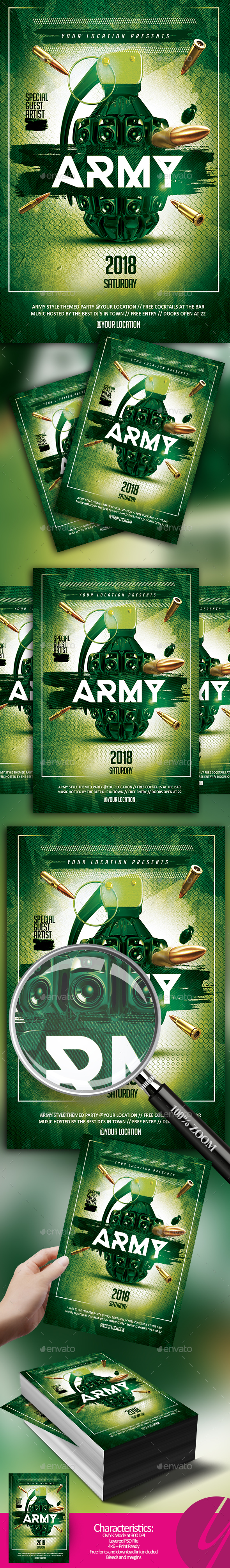 Army Theme Night - Clubs & Parties Events