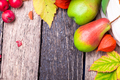 Thanksgiving background with autumn fruits