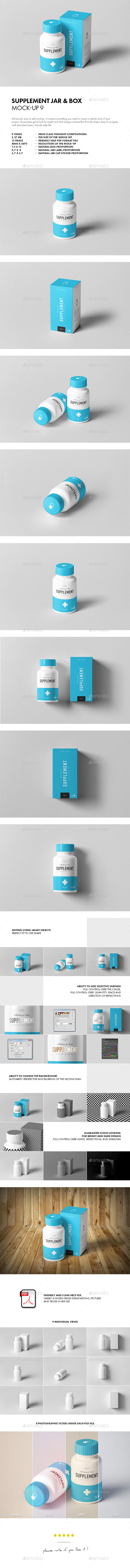 GraphicRiver Supplement Jar & Box Mock-up 9 20920870