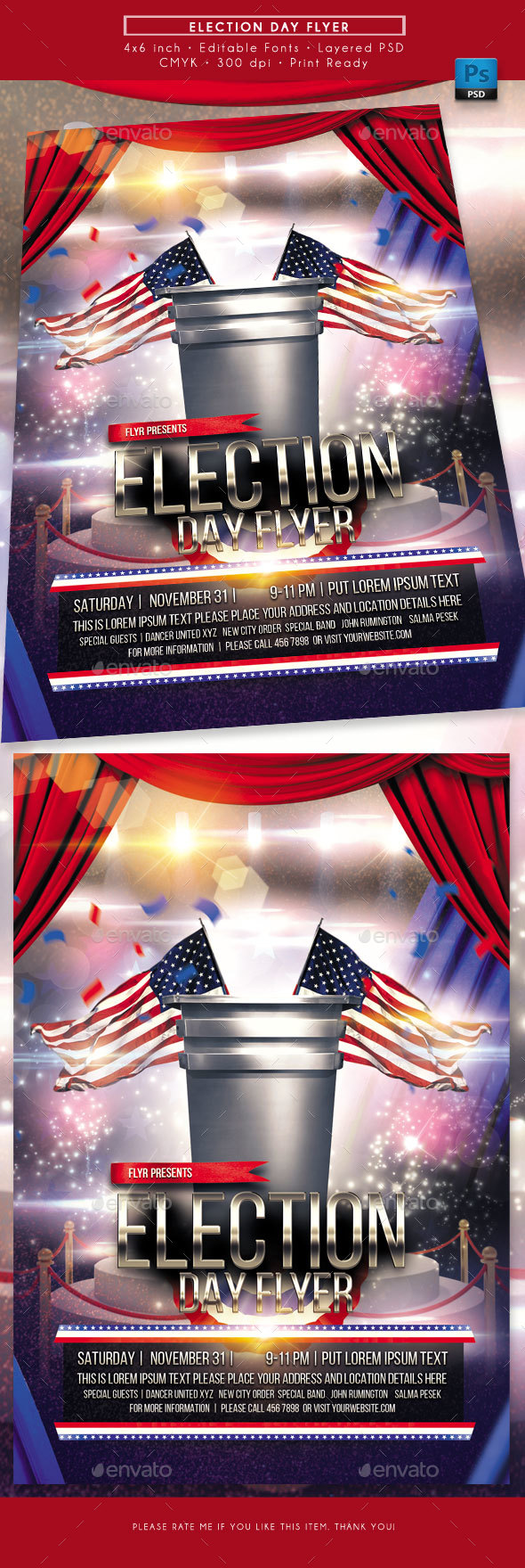 Election Day Flyer - Miscellaneous Events