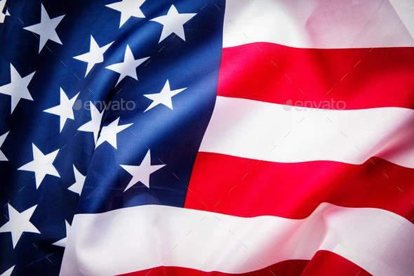 USA flag background. - Stock Photo - Images