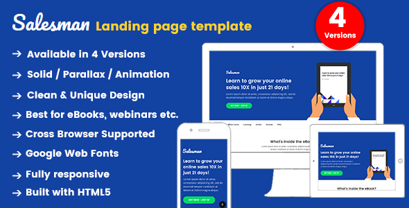 Salesman - Landing Page Template - Site Templates
