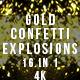 Gold Confetti Explosions