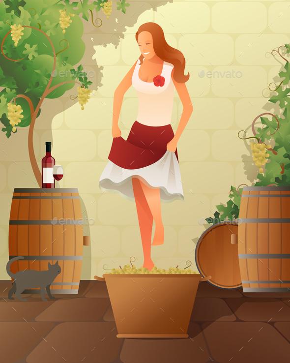 Wine Festival Illustration - Miscellaneous Vectors