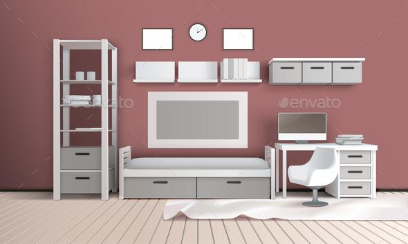 GraphicRiver Living Room Realistic Interior 20921304
